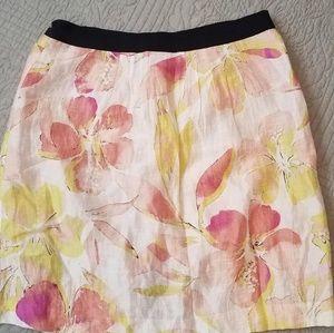 Loft watercolor lined skirt
